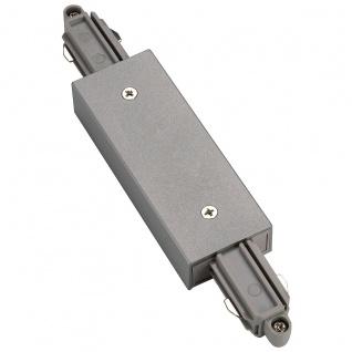 SLV Längsverbinder für 1-Phasen HV-Stromschiene silbergrau mit Einspeisemöglichkeit 143102