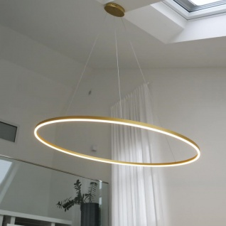 s.LUCE Ring 150 LED-Hängeleuchte Dimmbar Hängelampe Ringleuchte Ringlampe