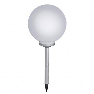 LED Solar Kugelleuchte Fara Ø 30cm Weiß Solar Gartenlampe Gartenleuchte