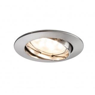 Paulmann 928.19 3er LED Einbauleuchten-Set Coin klar rund 7W Eisen dimm- & schwenkbar