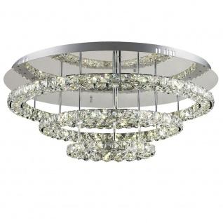 Licht-Trend LED-Deckenleuchte 72 W Kristall Ø 75cm chrom Deckenlampe