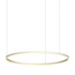 s.LUCE pro LED-Hängelampe Ring XL Ø 100cm Dimmbar Weiß Hängelampe Ringleuchte