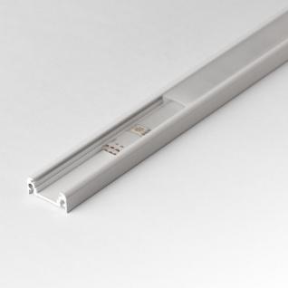 2m Aufbau-Aluprofil-Set für LED-Strips Abdeckung matt Alu Weiss lackiert