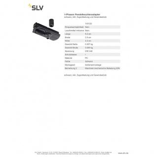 SLV 143120 1-Phasen Pendelleuchtenadapter , schwarz inkl. Zugentlastung und Gewindestück - Vorschau 2