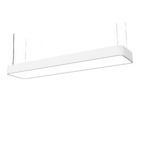 Licht-Trend LED Büro-Hängelampe Talu 90x20cm Weiß Schreibtischleuchte Bürolampe