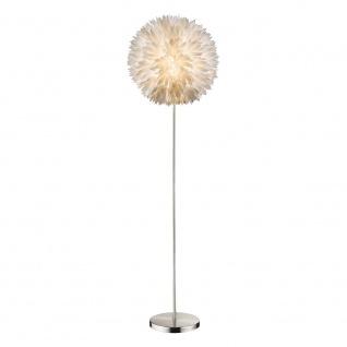 Nala Stehleuchte 1 Rohr gerade Kugel mit Blütenformen Kabel 1, 8 m Weiß