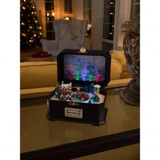 """Konstsmide 3405-000 LED """" Spieluhr mit Kindern"""", mit Geräuschsensor, Animation und 8 klassischen Weihnachtsliedern, 6 bunte Diode, batteriebetrieben für Innenbereich"""
