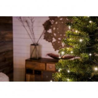 Micro LED Lichterkette gefrostet verschweißt 10 Warmweiße Dioden 24V Innentrafo dunkelgrünes Kabel - Vorschau 5