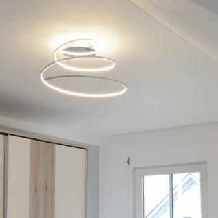 Licht-Trend Spin LED Deckenlampe spiralförmig Chrom LED Deckenleuchte