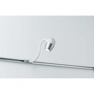 URail System LED Leseleuchte Knob 1x5, 5W Chrom matt 230V Metall