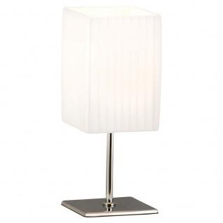 Globo 24660 Bailey Tischleuchte Weiß Chrom mit Faltenschirm