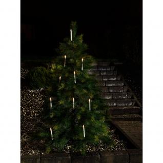 LED Baumbeleuchtung 10 kabellose weiße Kerzen mit Fernbedienung 10 Warmweiße Dioden batteriebetrieben für Aussen