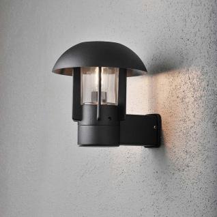 Konstsmide 404-750 Heimdal Aussen-Wandleuchte Schwarz klares Glas