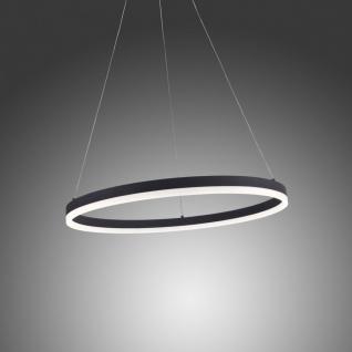 Licht-Trend Ring M LED-Hängeleuchte dimmbar über Schalter Ø 60 cm / Anthrazit / Ringleuchte