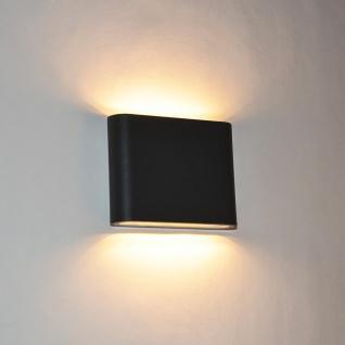 Licht-Trend Emi Superflache LED Aussen-Wandleuchte 3cm Up&Down Anthrazit