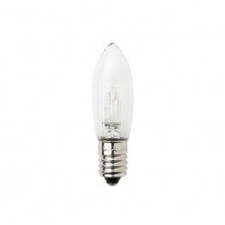 LED Birne universal 3er-Blister 2 warmweiße Dioden 24V E10 Schraubgewinde