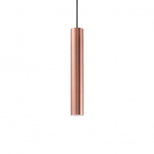 Ideal Lux 141855 Look Pendelleuchte Zylinder Ø 6cm Kupfer