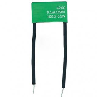 RC-Löschglied 100ohm / 0, 1myf gegen Spannungsspitzen & Induktionsspannung bei LED Leuchten