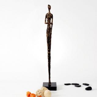 Holländer 419 3503 Figur Respetto Gross Aluminium-Holz Gold-Schwarz