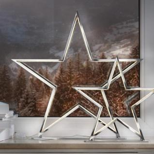 LED Weihnachtsstern Tischlampe Lucy 50cm Chrom