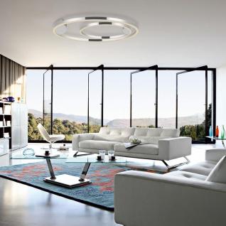 s.LUCE pro LED-Deckenleuchte Ring XL Dimmbar Ø 100cm in Chrom Wohnzimmer Ring Deckenlampe - Vorschau 5