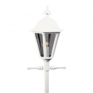 Konstsmide 567-250 Pallas Leuchtenkopf für Mastleuchte Weiß rauchfarbenes Acrylglas