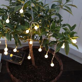 Premium LED Solar-Lichterkette 20 LEDs 7m Warmweiß Solar Gartenlampe Gartenleuchte