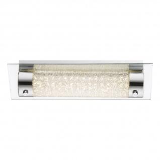 Nimrod Wandleuchte LED rechteckig 440lm Chrom Glas Klar