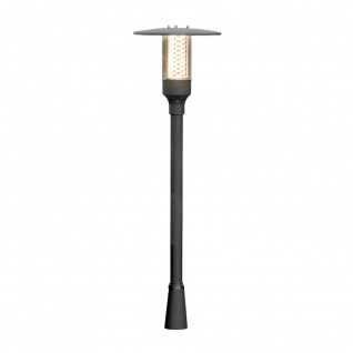 Konstsmide 405-750 Nova Wegeleuchte mit Reflektorgitter Schwarz klares Acrylglas