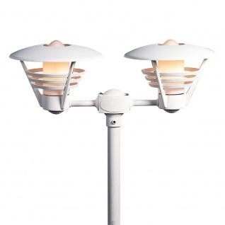 Konstsmide 501-250 Gemini Leuchtenkopf 2-tlg. für Mastleuchte Weiß opales Glas