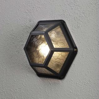 Konstsmide 533-750 Castor Aussen-Wand- & Deckenleuchte Schwarz rauchfarbenes Acrylglas