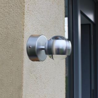 Lutec Ulm Design LED-Außenwandleuchte IP44 Alu-Matt