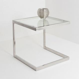 Holländer 209 2507 Tisch Virgine Edelstahl-Glas Silber-Klar