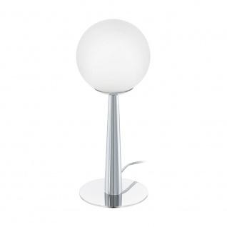 Eglo 95778 Buccino 1 Tischlampe Chrom Weiß