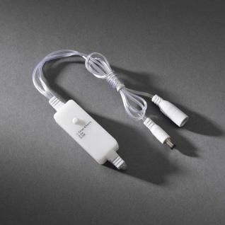 Timer nachrüstbar für alle Konstsmide LED Innenartikel mit Trafo bis max. 400 LEDs Innen transparentes Kabel