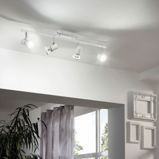 Eglo 94285 Bonares LED Spot 4 x 33 W Stahl Weiss Chrom Kristall klar