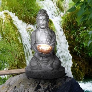 LED Garten Solarleuchte Buddha 30cm Solar Gartenlampe Gartenleuchte