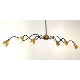 Holländer 300 K 15156 W Hängeleuchte 6-flammig Alice Grande Eisen-Glas Braun-Schwarz-Gold