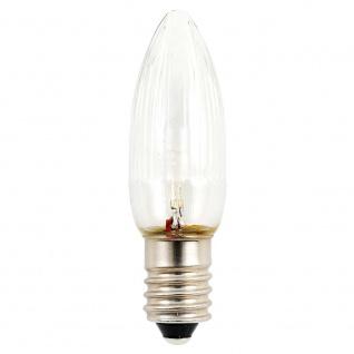 LED Birne universal 3er-Blister 2 warmweiße Dioden 6V E10 Schraubgewinde