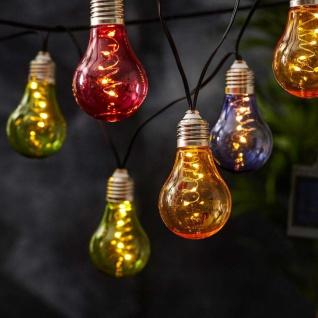 Premium LED Solar-Lichterkette 2m Multicolor Solar Gartenlampe Gartenleuchte