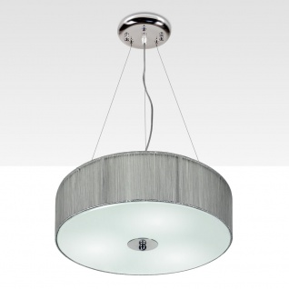s.LUCE Twine M Textil-Hängeleuchte Hängelampe Stofflampe Silber