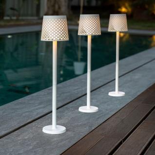 Licht-Trend 5 in 1 Steh- und Tischleuchte Greta verstellbar mit Erdspieß Weiß