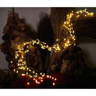 LED Sternenlametta 24 Stränge mit 20 Dioden 480 Warmweiße Dioden 12V Innentrafo kupferfarbener Draht