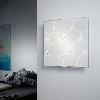 Eglo 92749 Sabbio 1 Wand- & Deckenleuchte 2-flammig Weiß Klar Chrom