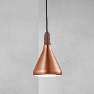 Licht-Trend Pinzantero 1 Kupfer-Pendelleuchte Ø 18cm Walnuss-Holz Bürobeleuchtung