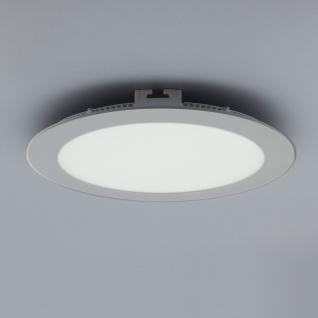 Licht-Design 30615 Einbau LED-Panel 1440lm Dimmbar Ø 22cm Kalt Silber