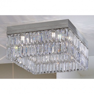 Kolarz Prisma Stretta Deckenleuchte Blau 8-flammig Deckenlampe