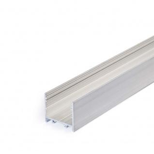 XXL Aufbauprofil 200cm Alu-roh ohne Abdeckung für LED-Strips