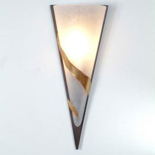 Holländer 300 K 1365 Wandleuchte Giglio Uno Eisen-Glas Braun-Schwarz-Gold