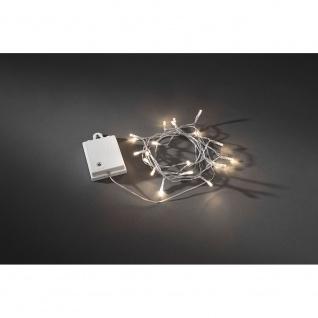 LED Lichterkette Lichtsensor 6h und 9h Timer 20 Warmweiße Dioden batteriebetrieben für Aussen weiße Box